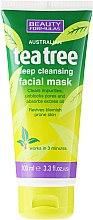 "Parfémy, Parfumerie, kosmetika Maska pro hluboké čištění obličeje ""Čajový strom"" - Beauty Formulas Tea Tree Deep Cleansing Facial Mask"