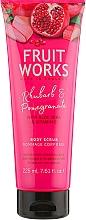 Parfémy, Parfumerie, kosmetika Tělový peeling Rhubarb & Pomegranate - Grace Cole Fruit Works Body Scrub Rhubarb & Pomegranate