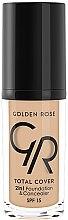 Parfémy, Parfumerie, kosmetika Tónalni krémový korektor - Golden Rose Total Cover 2in1 Foundation & Concealer