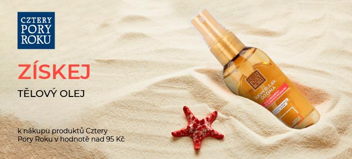 К nákupu produktů Cztery Pory Roku v hodnotě nad 95 Kč získej tělový olej jako dárek