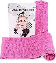 """Parfémy, Parfumerie, kosmetika Cestovní sada ručníků, růžové """"MakeTravel"""" - Makeup Face Towel Set"""