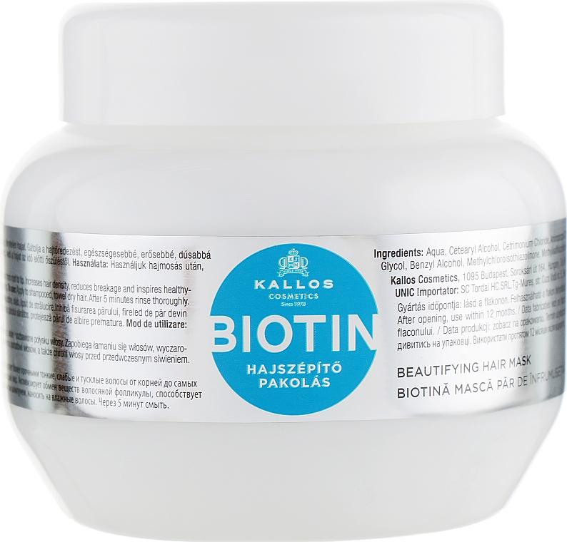 Maska pro zlepšení růstu vlasů s biotinem - Kallos Cosmetics Biotin Beautifying Mask