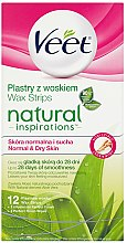 Parfémy, Parfumerie, kosmetika Voskové pásky s aloe vera - Veet Natural Inspirations Slices Of Wax Normal And Dry Skin