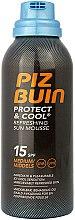 Parfémy, Parfumerie, kosmetika Osvěžující pěna PIZ BUIN Protect - Piz Buin Protect & Cool Refreshing Sun Mousse SPF15