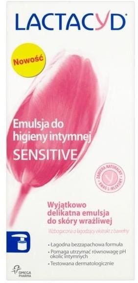 Mycí emulze s dávkovačem pro intimní hygienu Sensitive - Lactacyd Body Care — foto N2