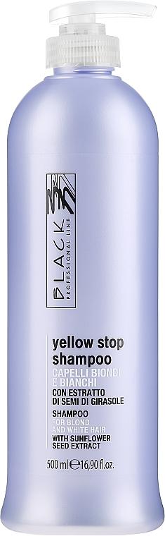 Šampon proti nažloutlosti pro šedivé, zesvětlené vlasy - Black Professional Line Yellow Stop Shampoo