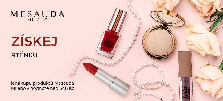 K nákupu produktů Mesauda Milano v hodnotě nad 646 Kč získej rtěnku jako dárek