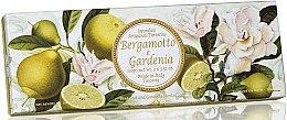 Parfémy, Parfumerie, kosmetika Sada přírodních mýdel Bergamot a Gardénie - Saponificio Artigianale Fiorentino Bergamot & Gardenia (3 x 100g)