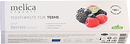 Parfémy, Parfumerie, kosmetika Zubní pasta, 6-14 let - Melica Organic Toothpaste For Teens With Berries Extract