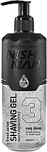 Parfémy, Parfumerie, kosmetika Gel na holení - Nishman Shaving Gel No.3 Fresh Active