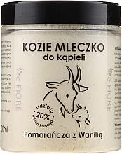 Parfémy, Parfumerie, kosmetika Kozí mléko do koupele Pomeranč a vanilka - E-Fiore Orange And Vanilla Bath Milk
