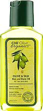 Parfémy, Parfumerie, kosmetika Hedvábný olej na vlasy a tělo - Chi Olive Organics Olive & Silk Hair and Body Oil