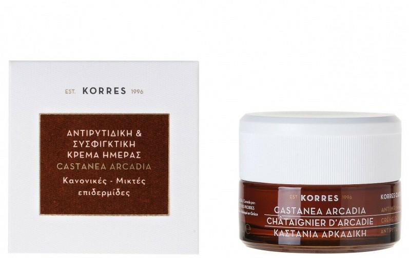 Zpevňující krém proti vráskám s kaštanem - Korres Castanea Arcadia Antiwrinkle&Firming Day Cream For Dry and Very Dry Skin — foto N1