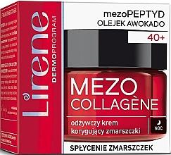 Parfémy, Parfumerie, kosmetika Noční krém na obličej proti vráskám - Lirene Mezo Collagene