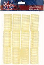 Parfémy, Parfumerie, kosmetika Natáčky na suchý zip 32/63, žluté - Ronney Professional Velcro Roller