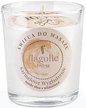 Parfémy, Parfumerie, kosmetika Masážní svíčka ve skle Vyhlazující karamel - Flagolie Caramel Smoothing Massage Candle