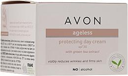Parfémy, Parfumerie, kosmetika Denní ochranný krém na obličej s extraktem ze zeleného čaje - Avon Ageless Protacting Day Cream SPF 30