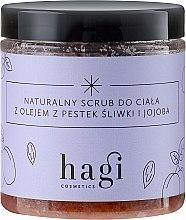 Parfémy, Parfumerie, kosmetika Přírodní scrub s olejem švestky a jojoby - Hagi Scrub