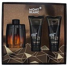 Parfémy, Parfumerie, kosmetika Montblanc Legend Night - Sada (edp/100ml + sh/gel/100ml + ash/balm/100ml)