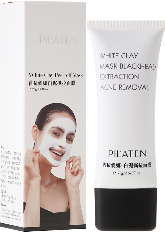 """Maska na obličej """"Bílá hlína"""" - Pilaten White Clay Mask Blackhead Extraction Acne Removal"""