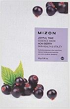 Parfémy, Parfumerie, kosmetika Látková maska s extraktem z bobulí Açai - Mizon Joyful Time Essence Mask Acai Berry