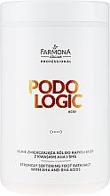 Parfémy, Parfumerie, kosmetika Změkčující sůl na nohy - Farmona Professional Podologic Acid Strongly Softening Foot Bath Salt