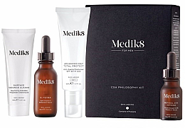 Parfémy, Parfumerie, kosmetika Sada - Medik8 CSA Philosophy Kit For Men (clencer/40ml + f/cer/30ml + f/cr/50ml +f/ser/15ml)