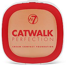 Parfémy, Parfumerie, kosmetika Krém-pudr - W7 Catwalk Perfection Cream Compact Foundation