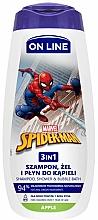 Parfémy, Parfumerie, kosmetika Šampon, sprchový gel a pěna do koupele 3v1 s vůní jablka - On Line Kids Disney Spiderman