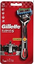 Parfémy, Parfumerie, kosmetika Holicí strojek s 1 vyjímatelnou kazetou, červený - Gillette Fusion ProGlide Power