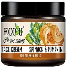Parfémy, Parfumerie, kosmetika Pleťový krém Tykev a špenát - Eco U Pumpkins And Spinach Face Cream