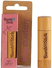 Parfémy, Parfumerie, kosmetika Olej na rty s vůní Jahod - Bamboostick Strawberry Bamboo Natural Care Lip Butter