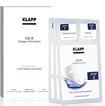 Parfémy, Parfumerie, kosmetika Sada na stimulaci kolagenu Home Treatment - Klapp CS III Home Treatment (concentrate/3x1,5ml + mask/3ks. + cream/3x2ml)