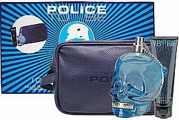 Parfémy, Parfumerie, kosmetika Police To Be Men - Sada (edt/125ml + sh/gel/100ml + bag)