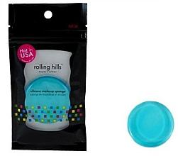 Parfémy, Parfumerie, kosmetika Silikonová houbička na make-up, modrá - Rolling Hills Silicone Makeup Sponge Blue