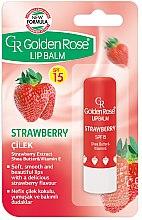 Parfémy, Parfumerie, kosmetika Balzám na rty - Golden Rose Lip Balm Strawberry SPF15