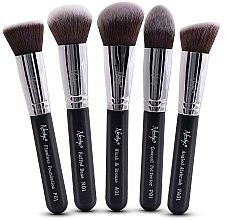 Parfémy, Parfumerie, kosmetika Sada štětců - Nanshy Face Brush Set Black (Brush/5ks)