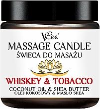 Parfémy, Parfumerie, kosmetika Masážní svíčka Whisky a tabák - VCee Massage Candle Whiskey & Tobacco Coconut Oil & Shea Butter
