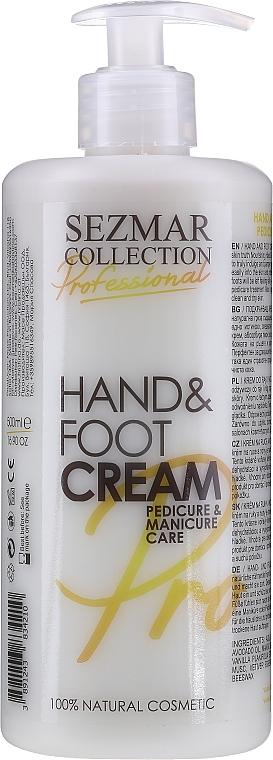Vyživující krém na ruce a nehty - Sezmar Collection Professional Hand & Foot Cream