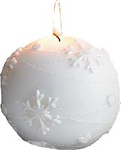 Parfémy, Parfumerie, kosmetika Dekorativní svíčka, koule, bílá, 10 cm - Artman Snowflake Application