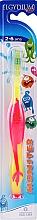 Parfémy, Parfumerie, kosmetika Dětský zubní kartáček 2-6 let, růžový - Elgydium Kids Monster Toothbrush
