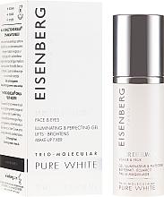 Parfémy, Parfumerie, kosmetika Zesvětlující elixír na obličej a na kontury očí - Jose Eisenberg Pure White Face & Eyes Illuminating & Perfecting Gel