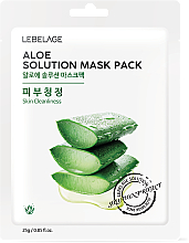 Parfémy, Parfumerie, kosmetika Pleťová maska látková Aloe - Lebelage Aloe Solution Mask