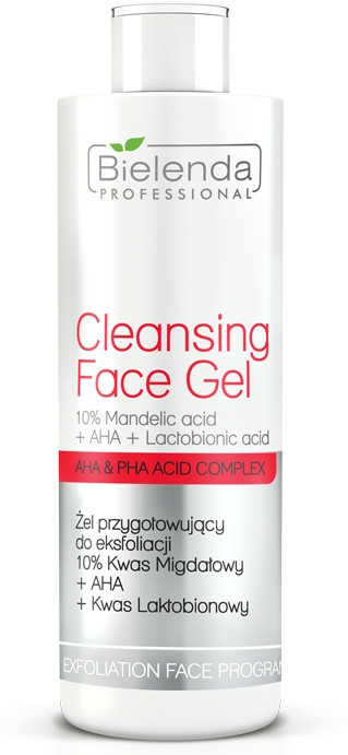 Exfoliační gel 10% kyselina mandlová + AHA + kyselina mléčná - Bielenda Professional Exfoliation Face Program Cleansing Face Gel — foto N1