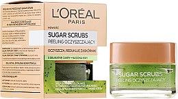 Parfémy, Parfumerie, kosmetika Čistící cukrový scrub na obličej - L'Oreal Paris Sugar Scrubs