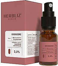 Parfémy, Parfumerie, kosmetika Ustní sprej na bázi oleje Jahoda 2,5% - Herbliz CBD Oil Mouth Spray 2,5%