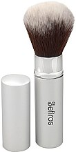 Parfémy, Parfumerie, kosmetika Štětec na make-up - Sefiros Silver Retractable Brush