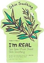 Parfémy, Parfumerie, kosmetika Plátýnková maska na obličej - Tony Moly I'm Real Tea Tree Mask Sheet