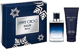 Parfémy, Parfumerie, kosmetika Jimmy Choo Man Blue - Sada (edt/50ml + sh/gel100ml)