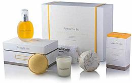 Parfémy, Parfumerie, kosmetika Sada - AromaWorks Serenity Body Indulgence Gift Set (bath/bomb/2x250g + candle/75g + b/oil/100ml + flannel)